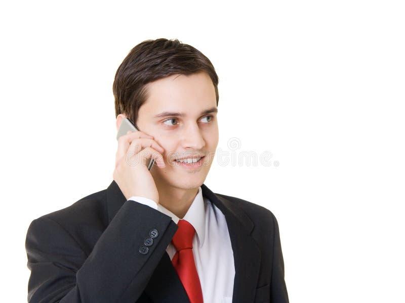 De bespreking van de telefoon stock afbeelding
