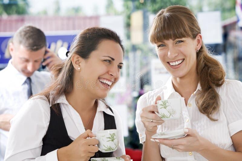 De besprekingen van de koffie royalty-vrije stock afbeelding