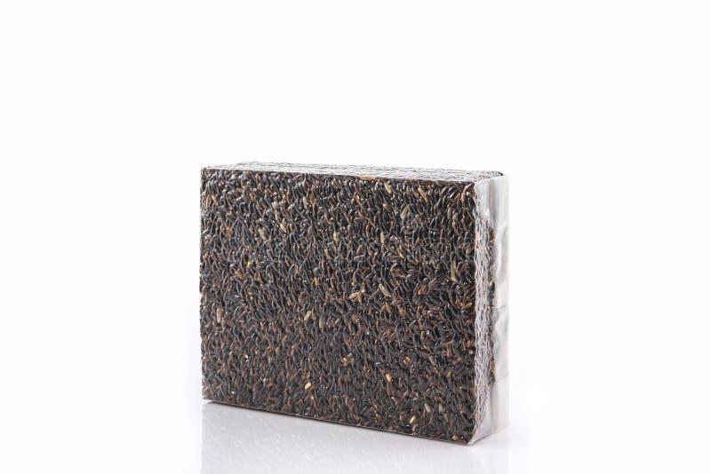 De bessenrijst van de rijstjasmijn in kleine plastic zak stock afbeelding