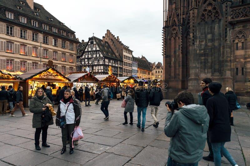 De beste atmosfeer van de Kerstmismarkt royalty-vrije stock afbeelding
