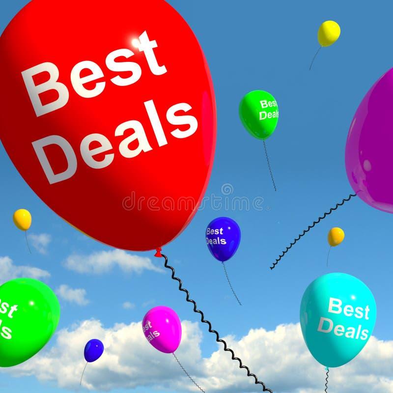 De beste Ballons die van Overeenkomsten Koopjes vertegenwoordigen royalty-vrije illustratie