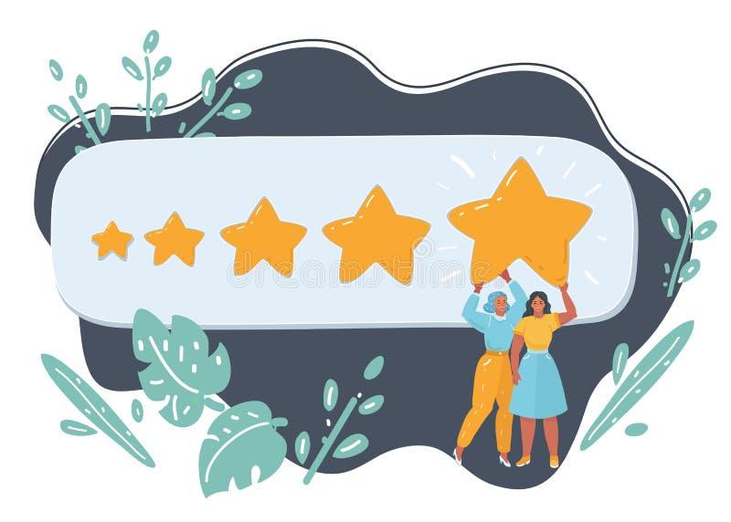 De beste classificatie, evaluatie, online overzicht royalty-vrije illustratie