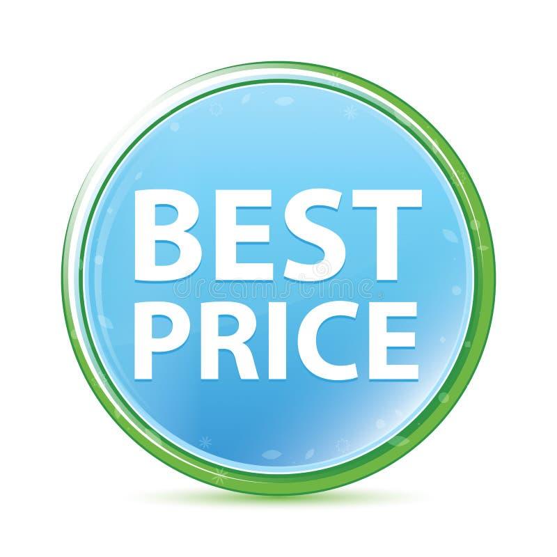 De beste cyaan blauwe ronde knoop van Prijs natuurlijke aqua stock illustratie