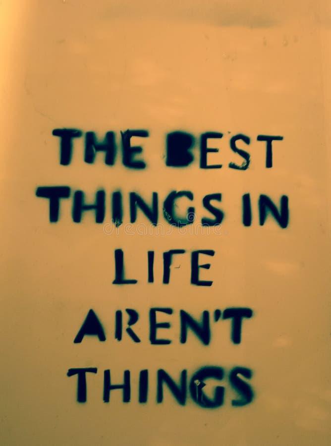 De beste dingen in het leven zijn geen dingen royalty-vrije illustratie