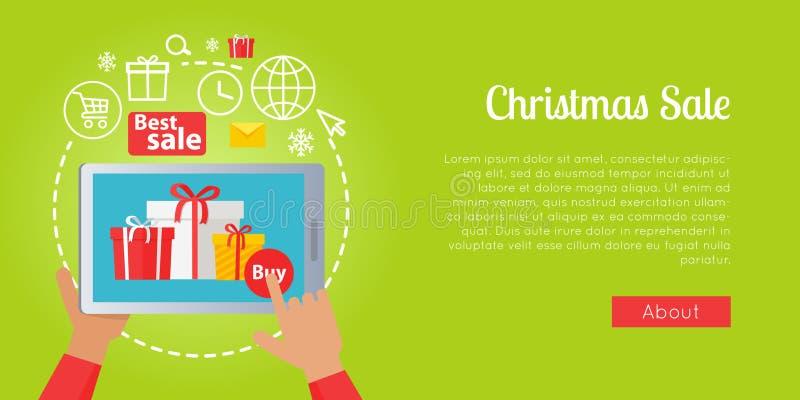 De beste Kerstmisverkoop van Kleurrijk stelt online voor stock illustratie
