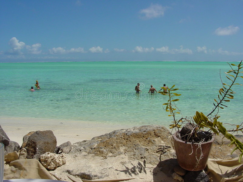 De Beste Lagune In De Wereld: Bora Bora Royalty-vrije Stock Foto's