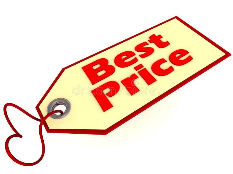 De beste markering van het prijsetiket royalty-vrije illustratie