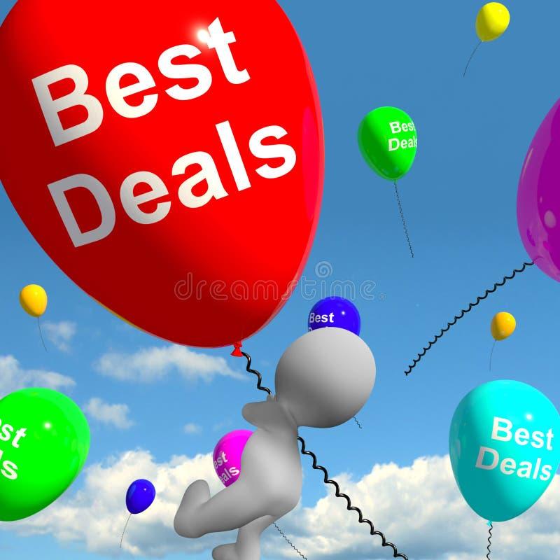 De beste Overeenkomstenballons vertegenwoordigt Koopjes of Kortingen stock illustratie