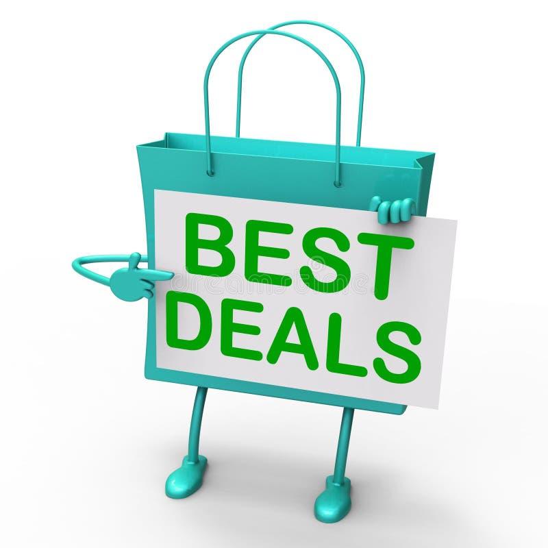 De beste Overeenkomstenzak vertegenwoordigt Koopjes en Kortingen stock illustratie