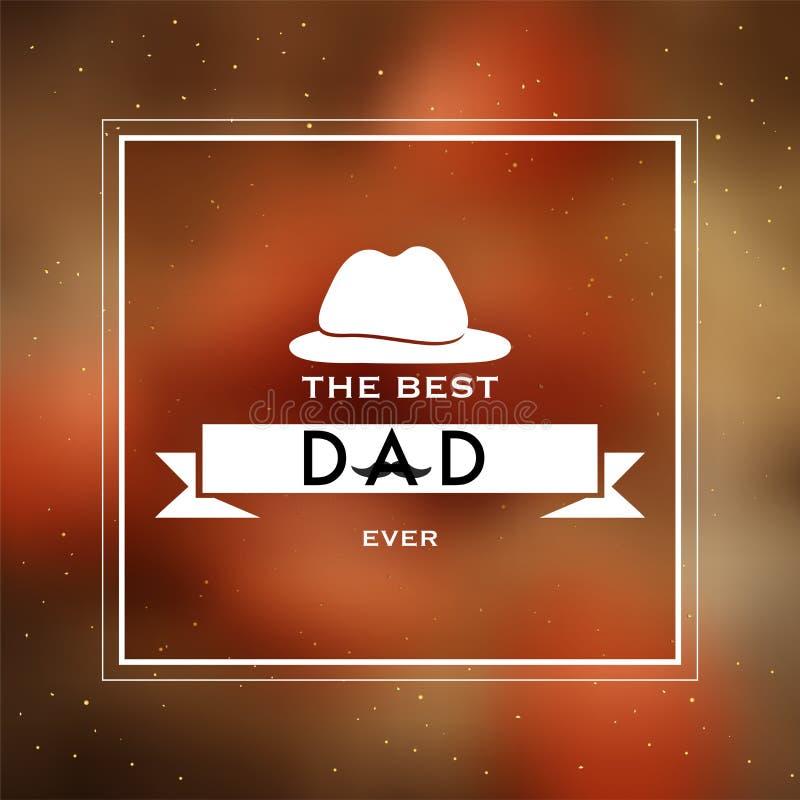 De Beste Papa ooit tekst met Hoed royalty-vrije illustratie