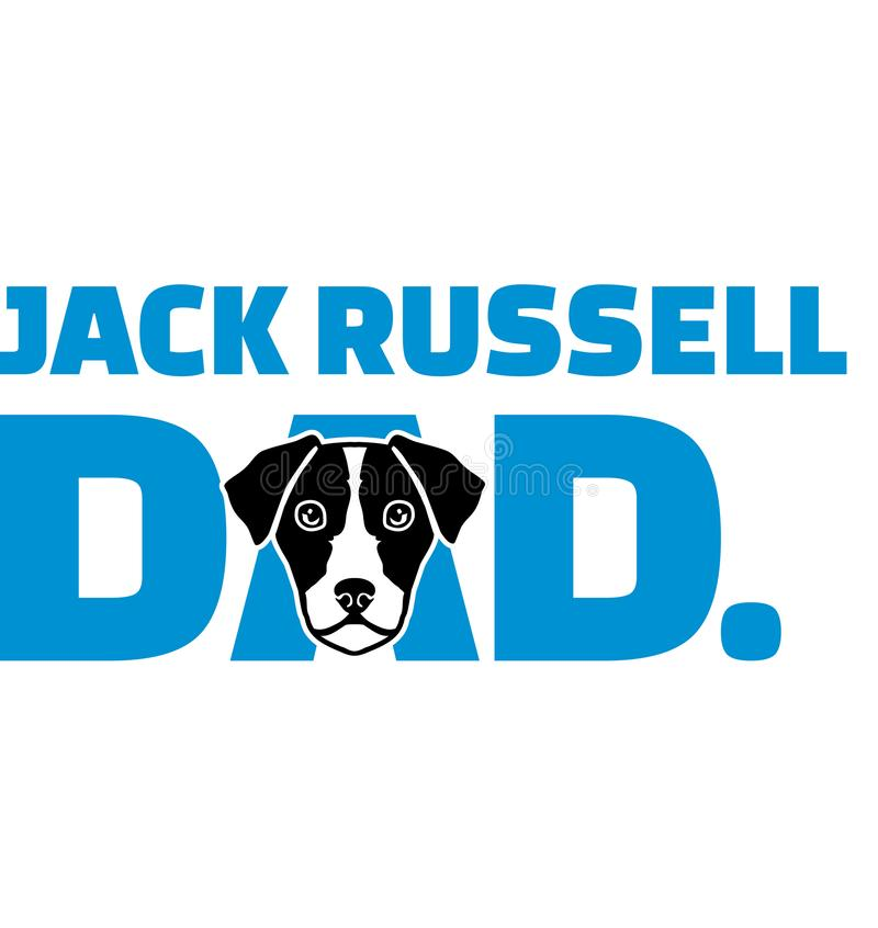 De beste Papa van Jack Russell Terrier royalty-vrije illustratie