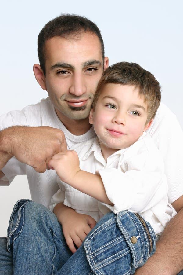 De beste partners van de vader en van de zoon stock afbeeldingen
