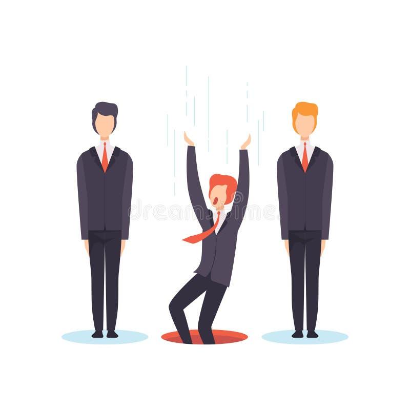 De beste persoon van groep, de bedrijfsconcurrentie, werkzoekenden, de vectorillustratie van het werkloosheidsconcept zoek vector illustratie