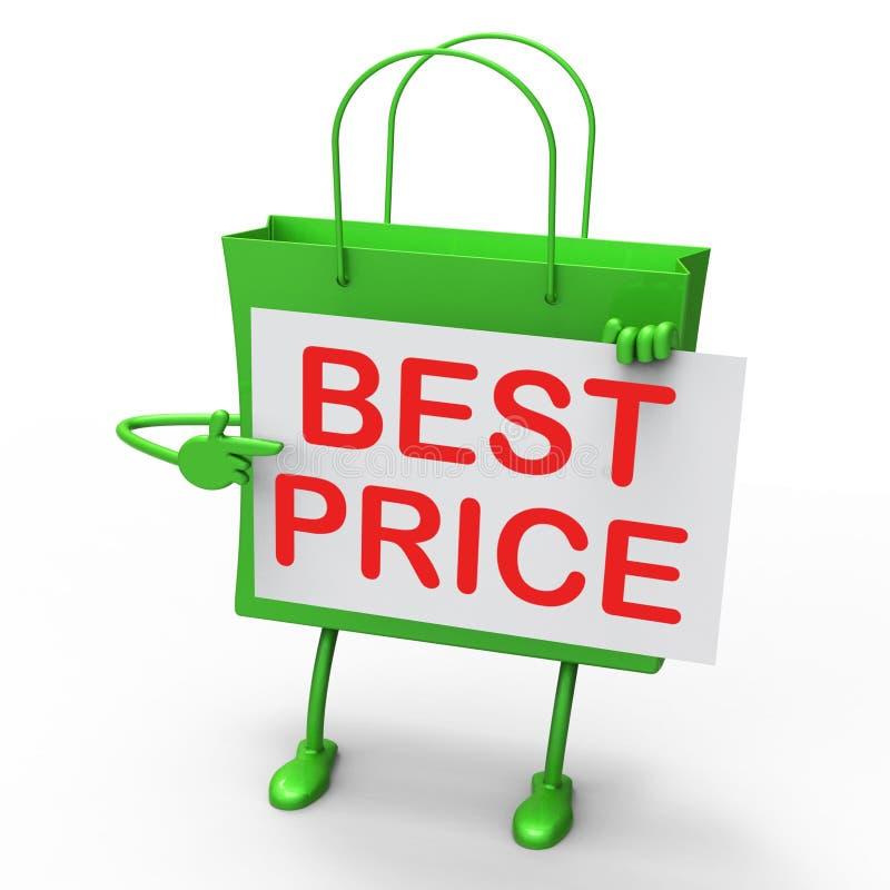 De beste Prijszak vertegenwoordigt Koopjes en Kortingen vector illustratie
