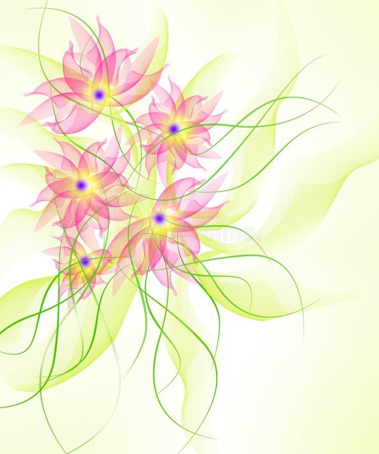 De beste Romantische Achtergrond van de Bloem vector illustratie