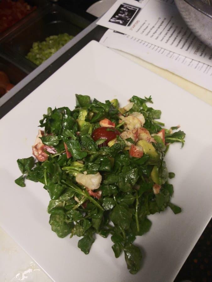De beste salade van Dannys steakhouse sushi redbank stock fotografie