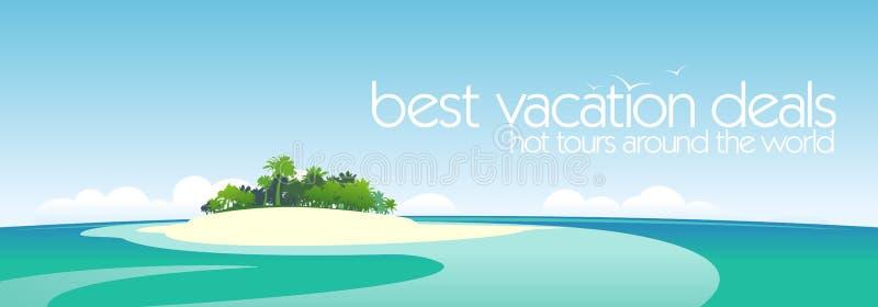 Beste het ontwerpmalplaatje van vakantieovereenkomsten. vector illustratie