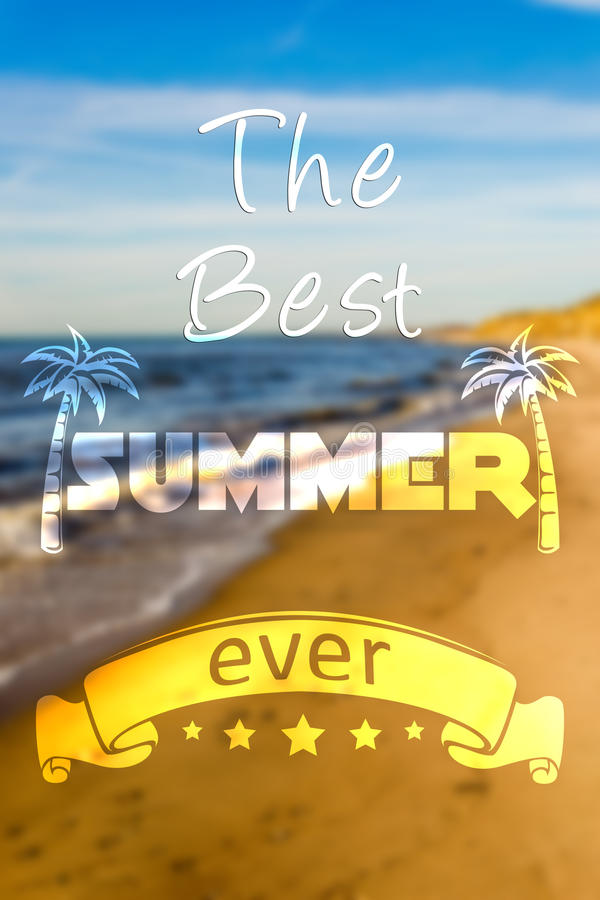 De beste zomer ooit vector illustratie