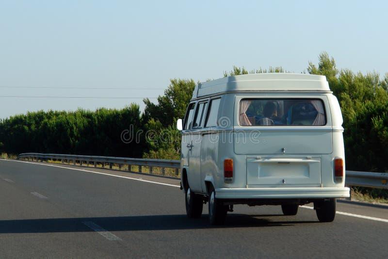De Bestelwagen van de hippie stock foto