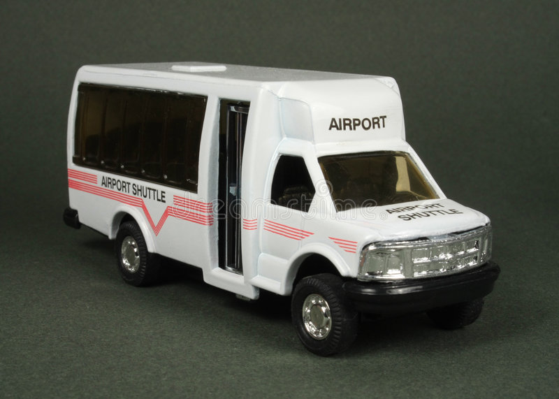 De Bestelwagen van de Pendel van de luchthaven stock foto
