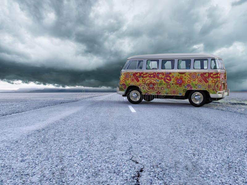 De Bestelwagen van de de Hippiebus van VW Volkswagen, Vrede royalty-vrije stock foto's