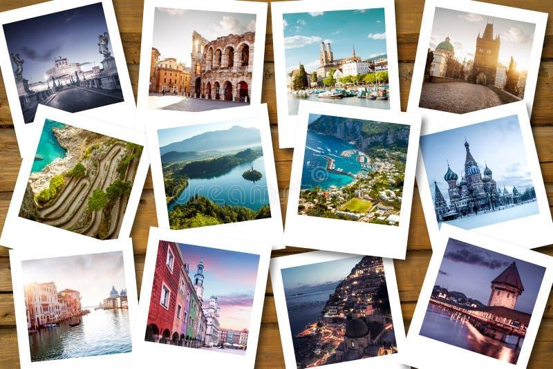 De bestemmingen van de emmerlijst royalty-vrije stock foto's