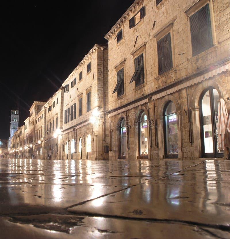 De Bestrating van Dubrovnik stock afbeeldingen