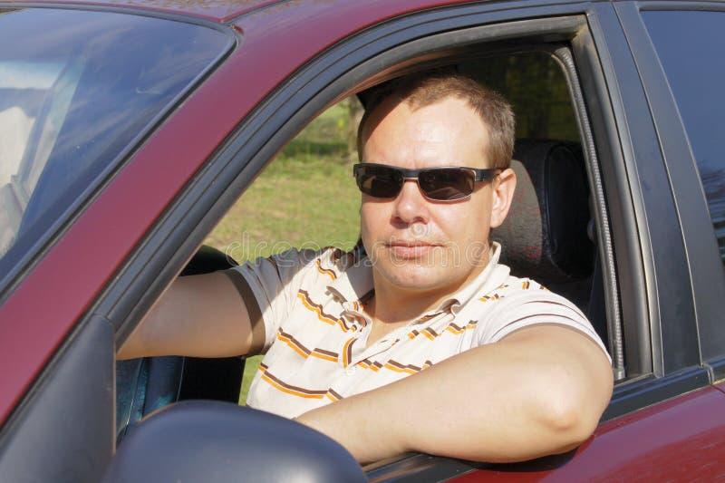 De bestuurder draagt glazen royalty-vrije stock foto's