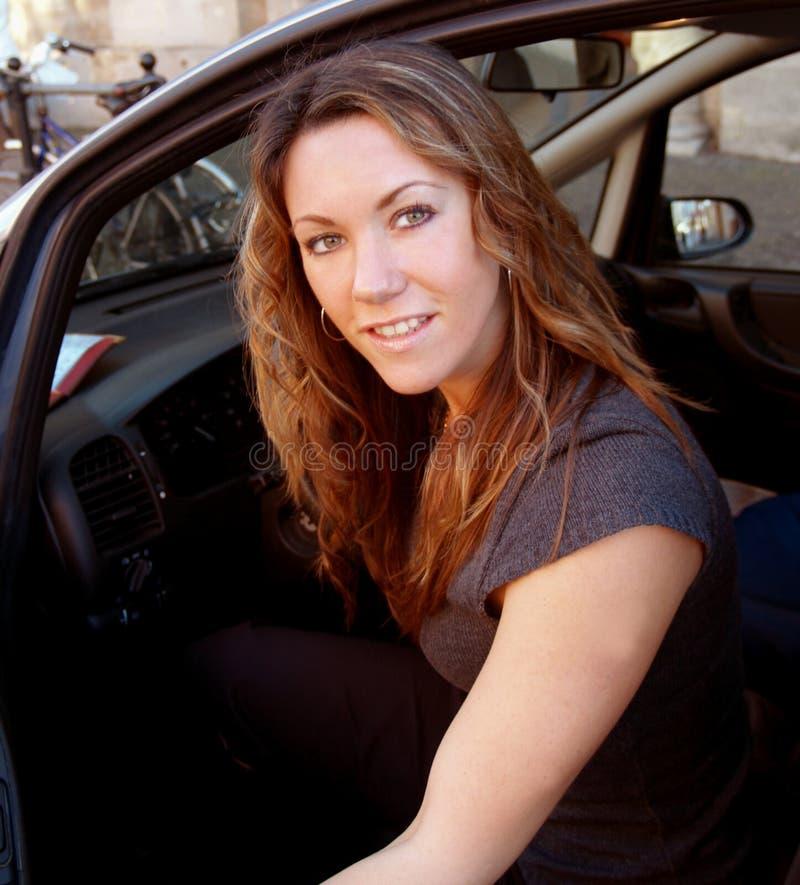 De bestuurder van de dame stock foto