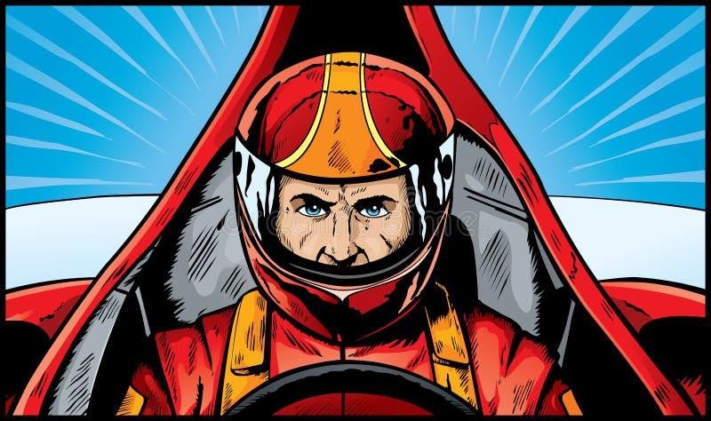 De Bestuurder van de raceauto vector illustratie