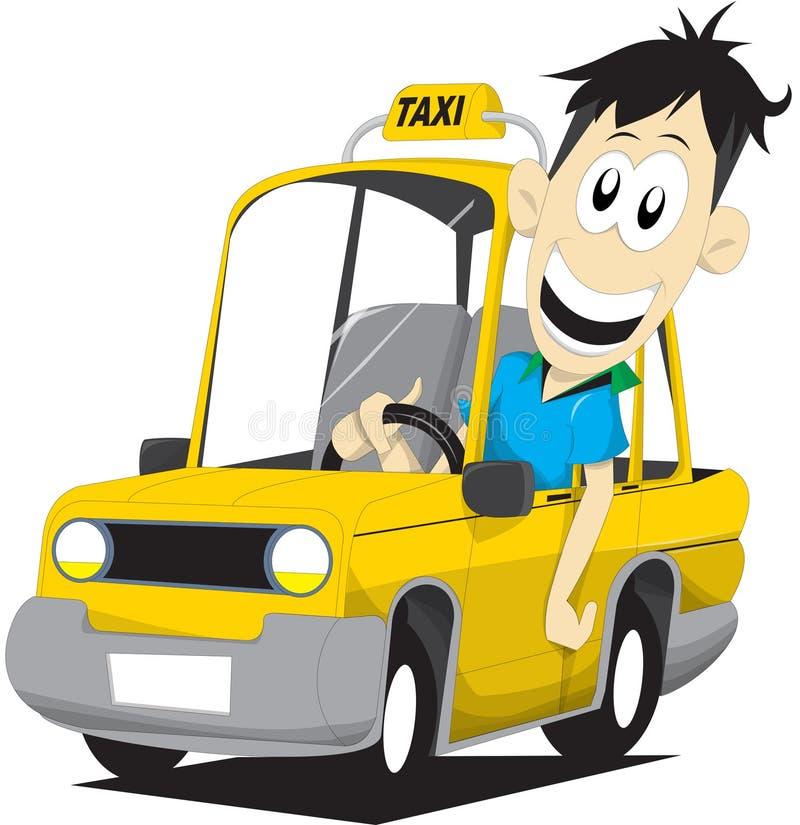 De bestuurder van de taxi stock illustratie