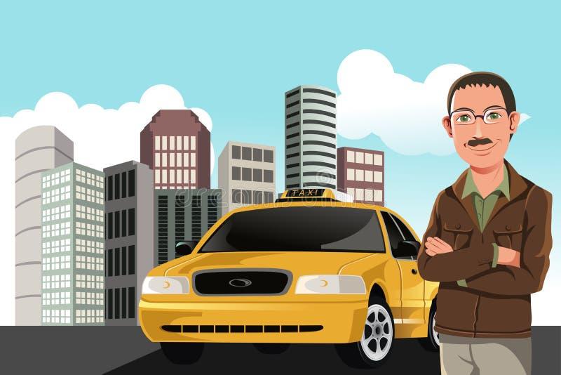 De bestuurder van de taxi vector illustratie