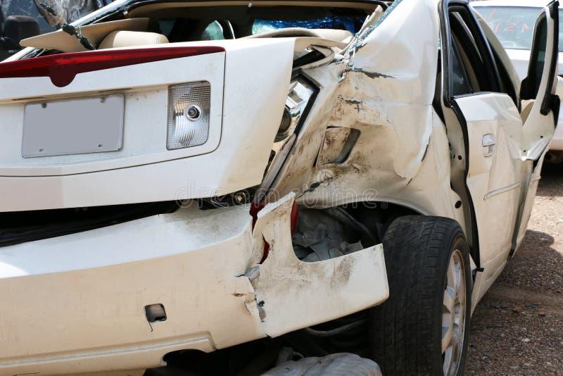 De Bestuurder van Texting van het autowrak stock afbeeldingen