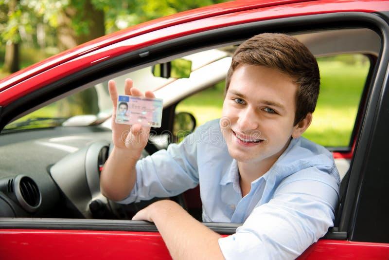 De bestuurders geven vergunning stock foto's