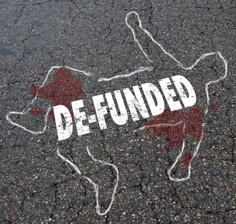 De-betald förlorande finansiering förlorar översikten Illustr för pengarkritakroppen royaltyfri illustrationer