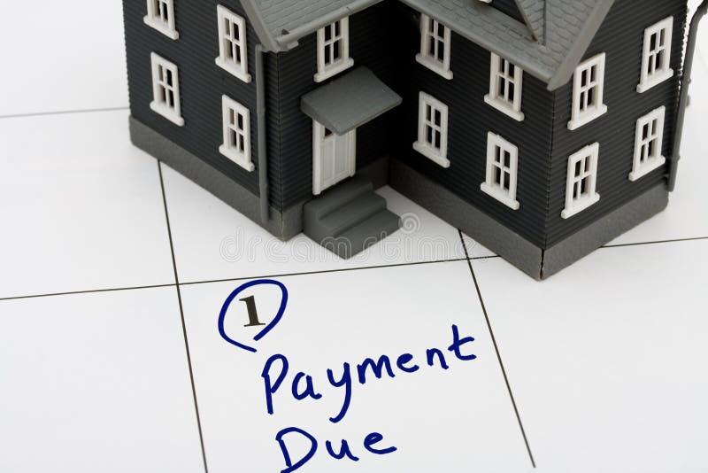 De Betaling van de hypotheek royalty-vrije stock foto's