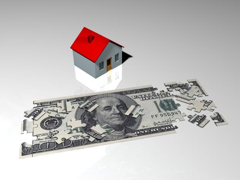 De betaling van de hypotheek vector illustratie