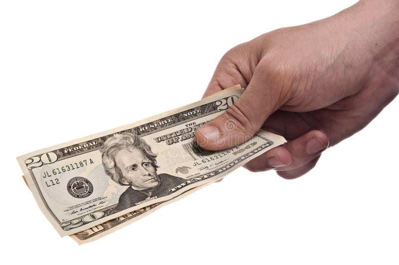 De Betaling van het geld stock foto's