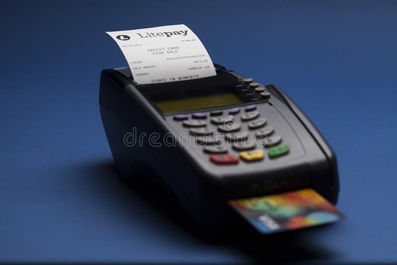 De betalingssysteem van Litepaycryptocurrency stock afbeeldingen