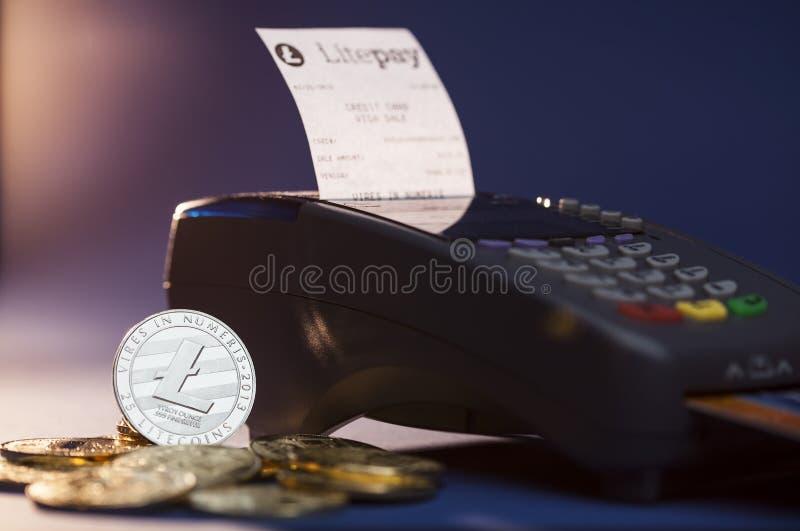 De betalingssysteem van Litepaycryptocurrency royalty-vrije stock afbeeldingen