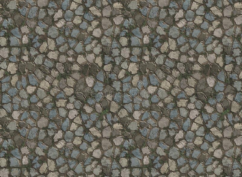 De betegelde weg van de steen betonmolen stock fotografie
