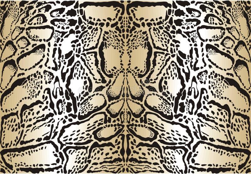 De betrokken luipaard van het patroon achtergrond stock illustratie