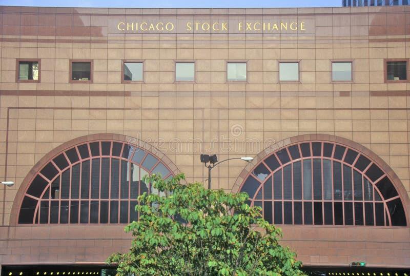De Beurs van Chicago, Chicago, Illinois stock foto's