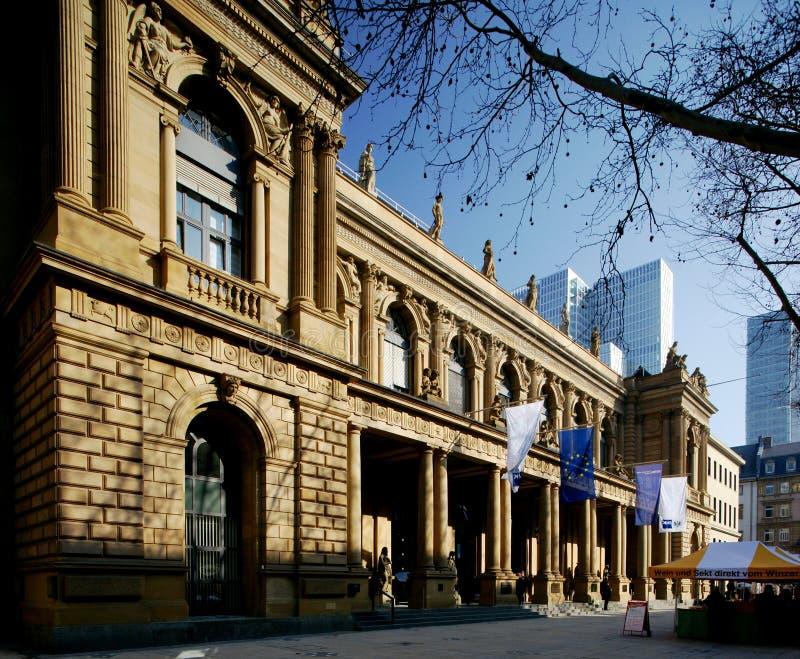 De Beurs van Frankfurt stock afbeeldingen