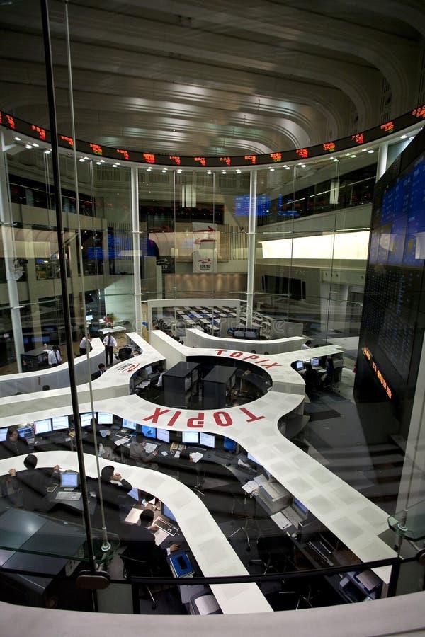 De Beurs van Tokyo stock afbeeldingen