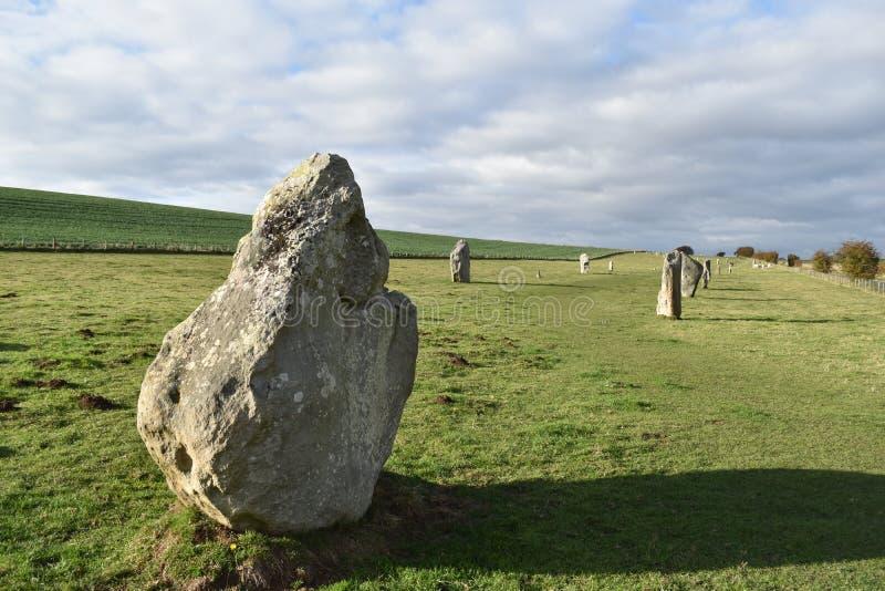 De Bevindende Stenen van Avebury stock fotografie