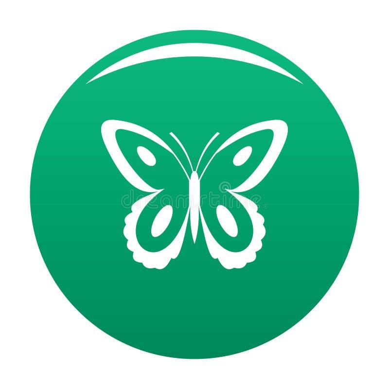 De bevlekte groene vector van het vlinderpictogram royalty-vrije illustratie