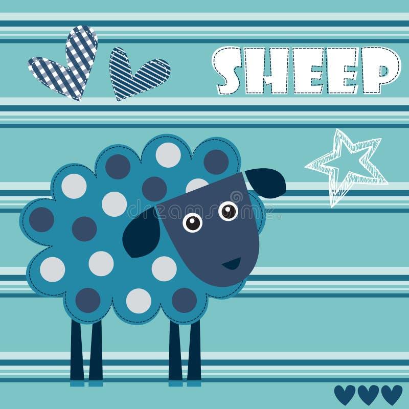 De bevlekte vectorillustratie van het schapenlam stock illustratie