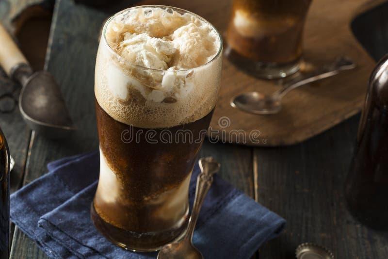 De bevroren Donkere Vlotter van het Stoutbier stock afbeeldingen