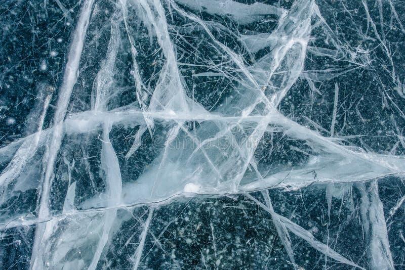 De bevroren Textuur van het Meerijs royalty-vrije stock foto